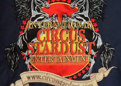 Northshore Embroidery Sample  - International Circus Stardust Entertainment