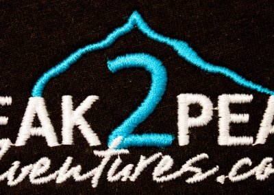 Northshore Embroidery Sample  - Peak to Peak