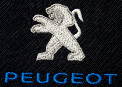 Northshore Embroidery Sample - Peugeot